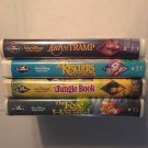 4  Disney Black Diamond VHS Movies