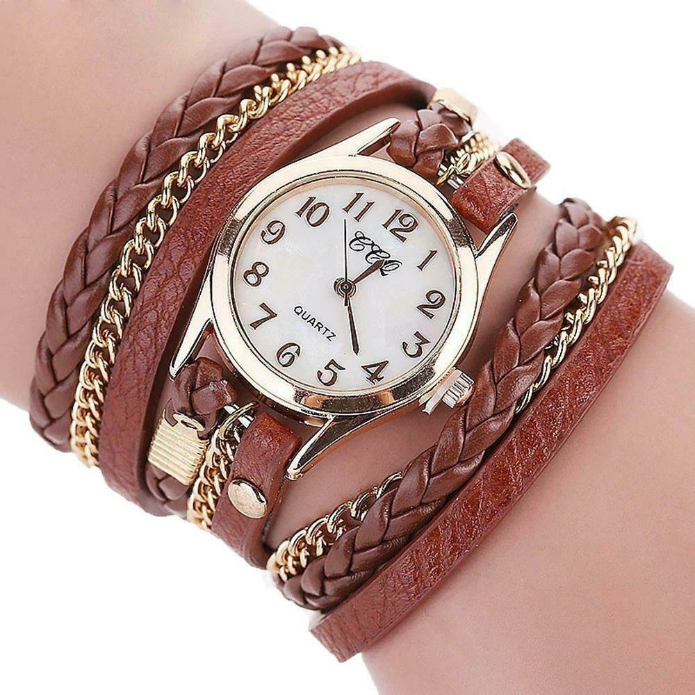 Vintage Women Leather Bracelet Watch 2019