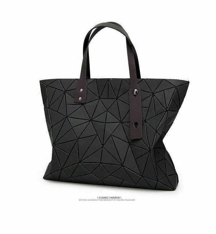 Women's large-capacity holographic laser handbag irregular geometric