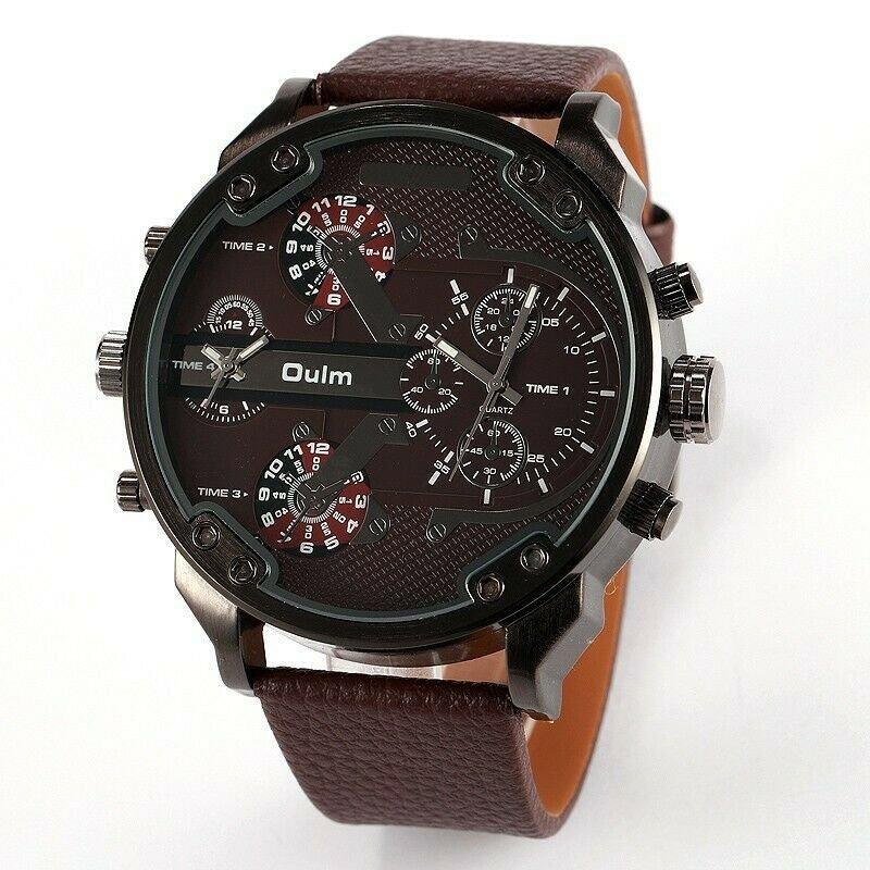 Men Quartz-Watch Casual Fabric Leather Strap Military Wrist Watch