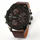 Men Quartz-Watch Casual Fabric Leather Strap Military Wrist Watch