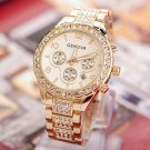 Ladies Gold Steel Quartz Watch Geneva Casual Crystal Rhineston