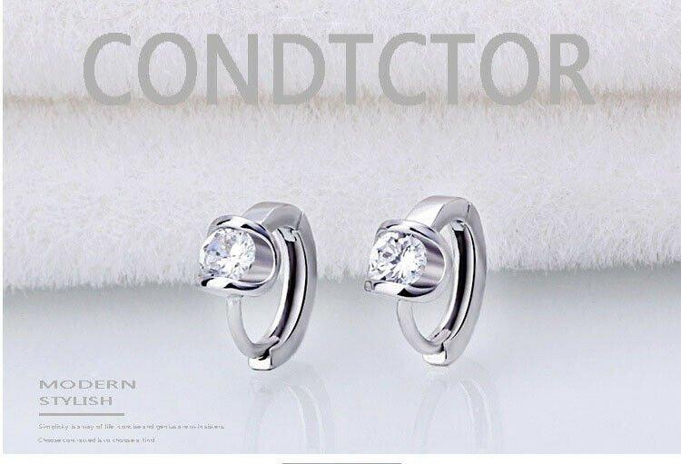 Angel Kiss Fashion Korean Earrings Hoops Vintage Classic Elegant Earring Crystal