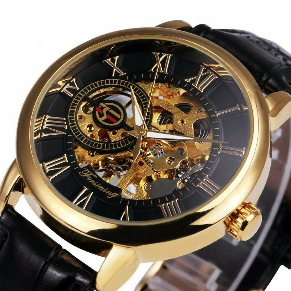 Top Brand Luxury Mechanical Watch Splendid 3D Hollow Engraving Case Skeleton Dia