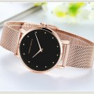 Hannah Martin Quartz Movement Stainless Steel Rose Gold Waterproof Wrist Watch