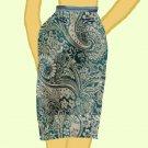 Paisley Skirt - Teal with Satin Trim