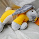 Handmade Bunny yellow gray soft toy rabbit plush Home Decor Unique Nursery Decor OOAK stuffed animal