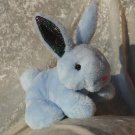 BLUE Baby Rabbit small soft toy TINY BUNNY Handmade boys rabbit for children unique baby shower gift