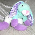 Handmade AQUA BUNNY Floppy Rabbit lop soft toy mint Unique Nursery Decor stuffed animal winter gift