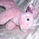 Small Baby Rabbit SALMON Color UNIQUE plushie HANDMADE soft toy bunny pink nursery decor for kids