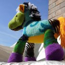 Rainbow Horse Okapi HANDMADE soft Pony plush Aura Chakra Home Decor Unique Collectible