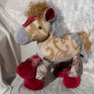LUXURY Horse Home Decor gold silver red HANDMADE Unique Pony soft toy Princess Medieval Castle Decor