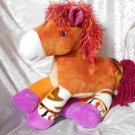 CHESTNUT Horse HANDMADE Collectible soft toy Impala Pony purple hooves unique stuffed animal ooak
