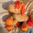 Orange Horse plush HANDMADE soft toy Pony Mango unique stuffed Home Decor for Horse Lovers ooak