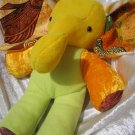 Yellow Elephant HANDMADE stuffed animal plush nursery decor unique elephant baby shower gift