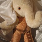 Cream Elephant HANDMADE beige soft toy elephant stuffed animal nursery decor baby shower