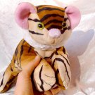 Handmade TIGER PLUSH Unique Home Decor soft toy wildlife stuffed animal floppy wild cat collectible