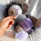 Handmade HEDGEHOG plush Doll Amethyst stuffed soft toy purple gray unique Home Decor autumn