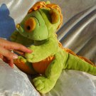 Handmade DINOSAUR plush Doll green stuffed animal dino soft toy dragon yellow unique Nursery Decor