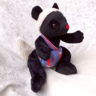 Black DORMOUSE plush Doll mole UNIQUE stuffed animal black sheep handmade soft toy Nursery Decor