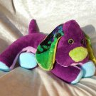 Rainbow Puppy plush Dachshund soft toy purple blue green HANDMADE stuffed dog Cocker Spaniel floppy