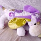 Lavender Dachshund decor Roses floppy puppy soft toy HANDMADE unique Basset Dog stuffed animal