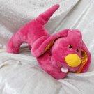 Raspberry Pink Puppy for girls UNIQUE baby shower gift plush DACHSHUND soft toy stuffed dog Spaniel