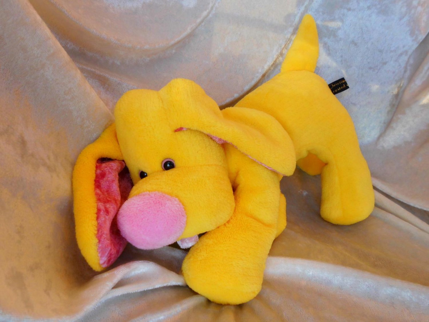 Yellow SPANIEL soft toy Lemon DACHSHUND HANDMADE Spaniel plush floppy doxie stuffed puppy dog