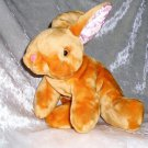 NEW ZEALAND small Rabbit plush fudge color UNIQUE HANDMADE super soft toy cute bunny collectible