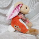 HANDMADE Bunny orange with Teddy Bear soft toy floppy rabbit plush unique Home Decor Nursery