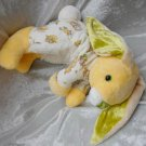 PINEAPPLE BUNNY DUCKLING Chicks yellow floppy rabbit stuffed nursery decor HANDMADE cuddly soft toy