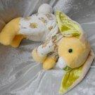 PINEAPPLE BUNNY DUCKLING Chicks yellow floppy rabbit stuffed nursery decor HANDMADE cuddly soft toy
