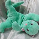Handmade CAT SEAFOAM color KITTEN plush mint teal floppy soft toy stuffed animal unique floppy decor