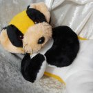 ORCA PANDA YELLOW floppy stuffed cat bear HANDMADE lesser panda yellow black white floppy soft toy