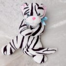 WHITE Snow TIGER plush tabby cat white zebra kitten soft toy HANDMADE floppy wild animal stuffed