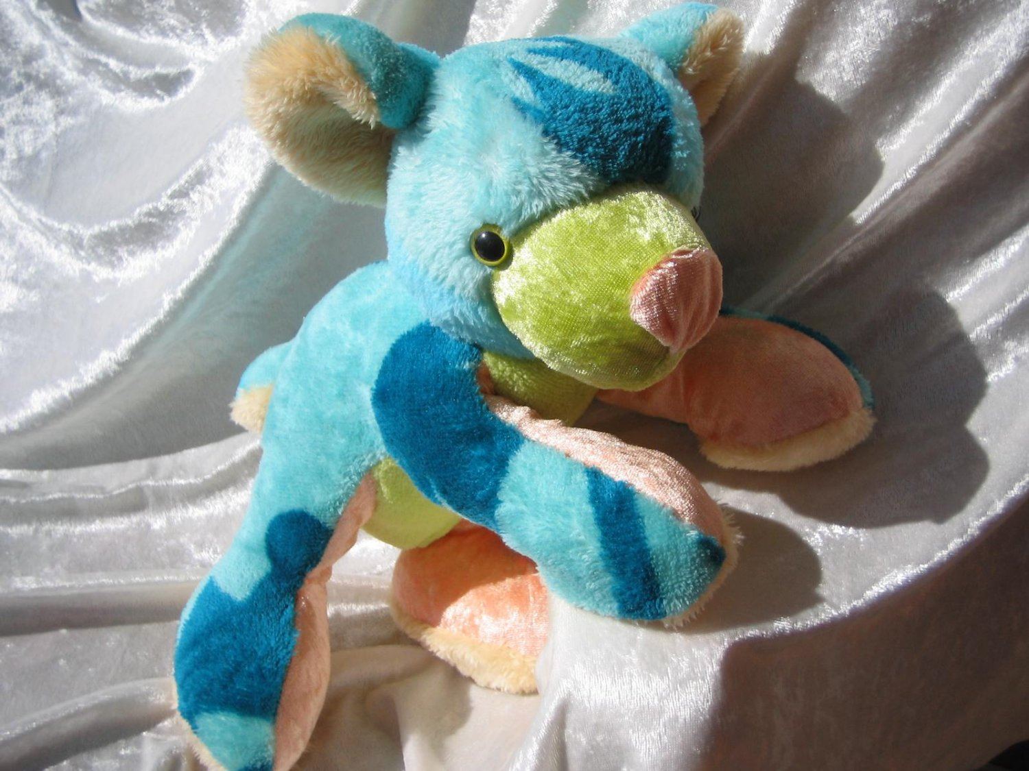 AQUA NAUTILUS Teddy Baby Shower Turquoise Green Maritim luxury bear decor handmade soft toy nursery