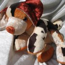 Handmade  Beagle Basset Terrier puppy plush brown beige soft toy dog unique decorative home decor