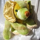 Unique Golden Cocker Spaniel Green HANDMADE Puppy soft toy yellow stuffed animal dog dachshund decor
