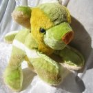 Unique limeGreen Teddy Bear cub green HANDMADE soft toy yellow stuffed animal bear nursery decor