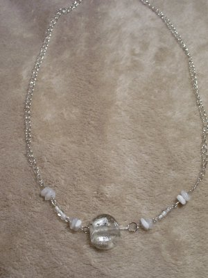 Clear-White Necklace-Earring Set