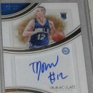 Signed immaculate collection card. TJ MCCONNELL