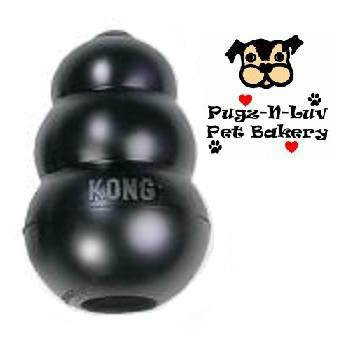 """KONG Black ULTRA KING 6"""" Rubber Dental Chew Dog Toy for Treats"""