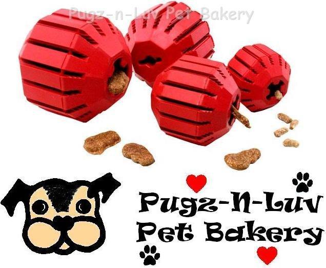 Kong MEDIUM Stuff-A-Ball Rubber Chew Dog Toy Treats