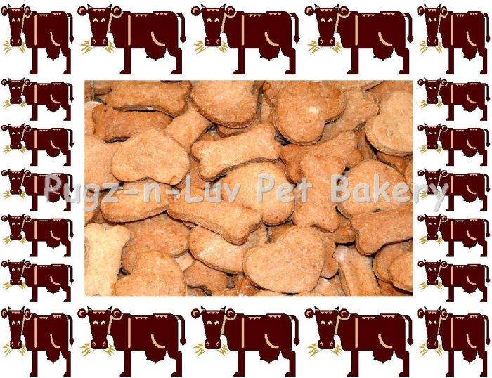 Dog Treats Biscuits Gourmet Homemade 1 LB Beef
