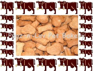 Dog Treats Biscuits Gourmet Homemade 1 LB Beef