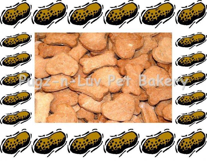 Dog Treats Biscuits Gourmet Homemade 1 LB Peanut Butter