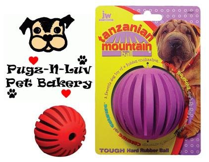 "Tanzanian Mountain Ball SMALL 2"" Dog Chew Toy Treat"