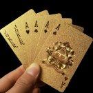 Golden Playing Cards Deck gold foil poker set Magic card 24K Gold Plastic foil