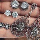 Bohemian Stud Earrings Set Silver Plated