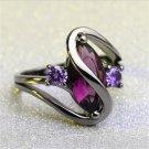Hot Fashion Luxury Purple Zircon CZ Crystal Colorful Ring